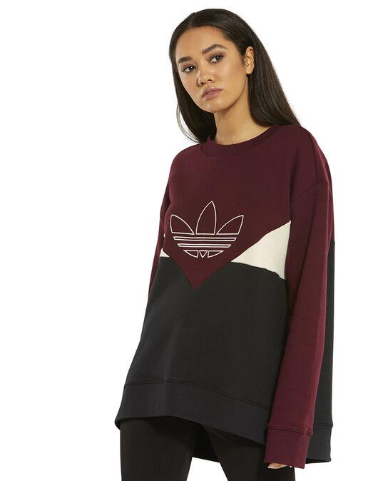 Women s Red adidas Originals CLRDO Sweatshirt  4e2c597654e09