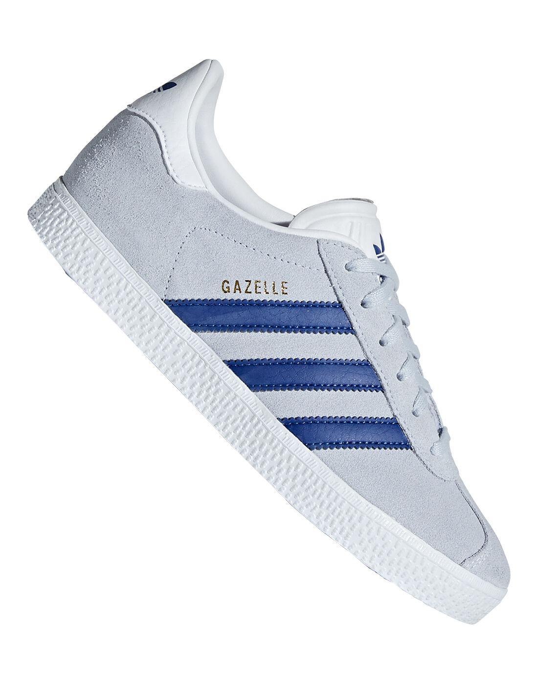 Kid's Grey & Blue adidas Gazelle   Life Style Sports