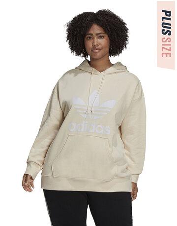 Womens Trefoil Plus Size Hoodie