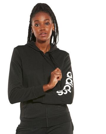 Womens Linear Full Zip Hoodie