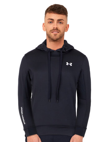 Mens Armour Terry Pullover Hoodie