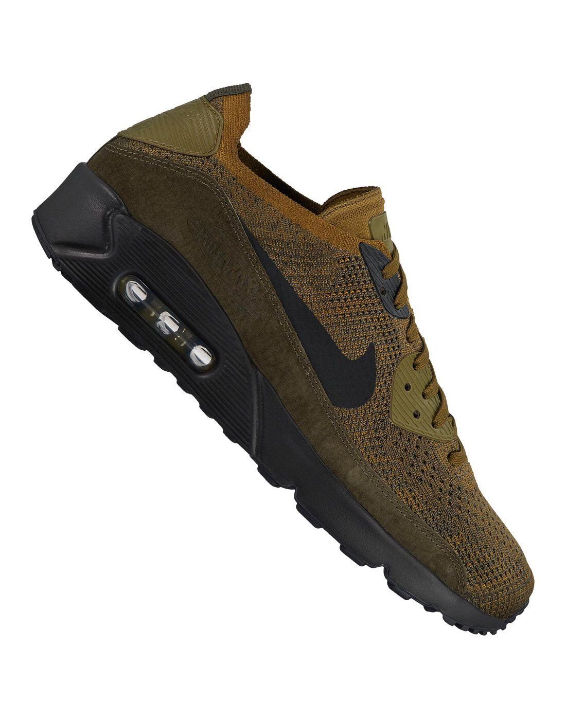 Men's Nike Air Max 90 Ultra Flyknit | Green khaki | Life Style Sports