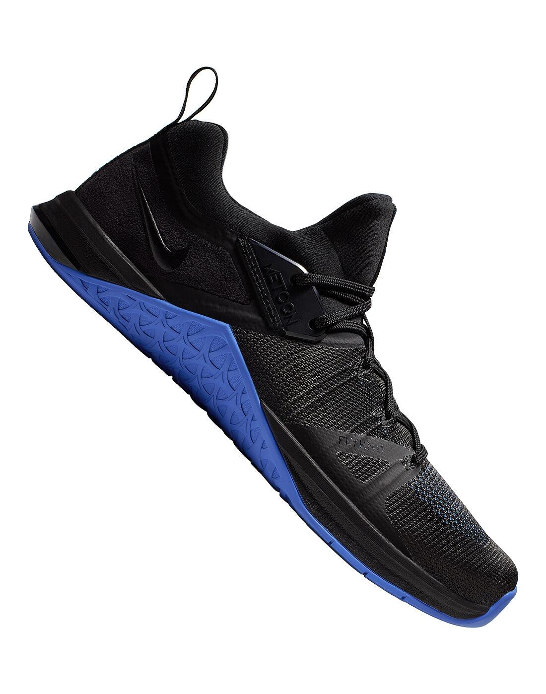 Men's Black \u0026 Blue Nike Metcon Flyknit