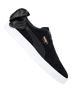 Womens Suede Bow