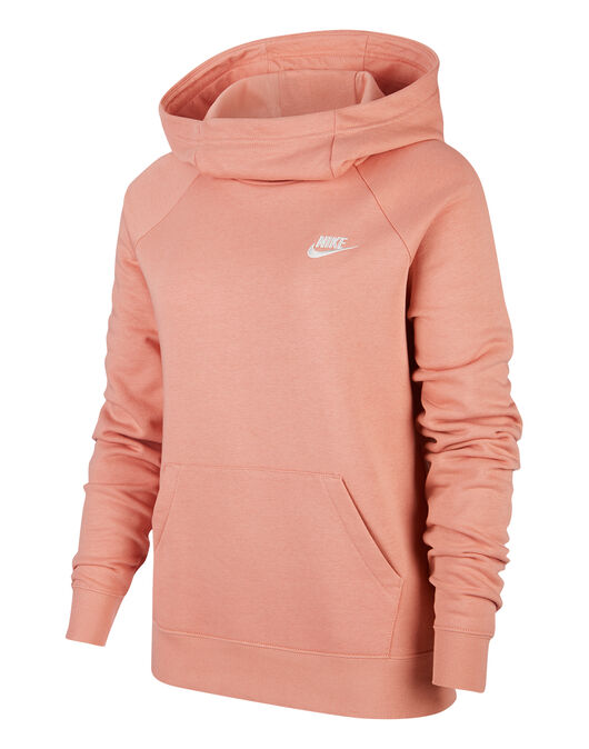Womens Essential Fleece Funnel Hoodie