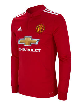 Adult Man Utd 17/18 Home Jersey LS