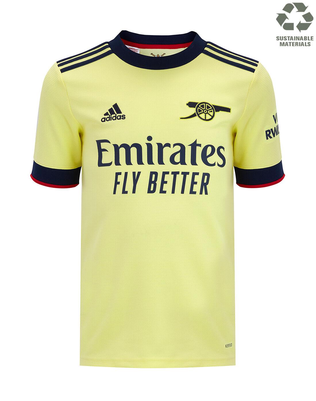 adidas Kids Arsenal 21/22 Away Jersey - Yellow | nike hypervenom ...