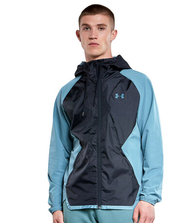 Mens Stretch Woven Hooded Jacket
