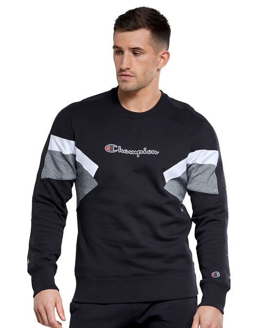 Mens Colour Sport Crew Neck Sweatshirt