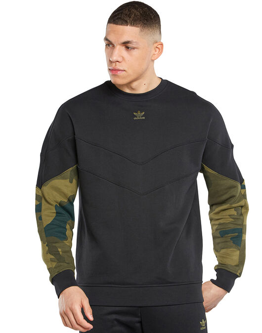 Mens Camo Crew Neck Sweatshirt