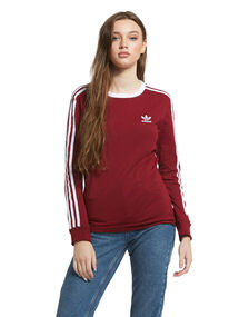 Womens 3 Stripe Long Sleeve T-Shirt