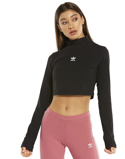 4b153a93f19 adidas Originals Womens Crop Long Sleeve Top | Life Style Sports