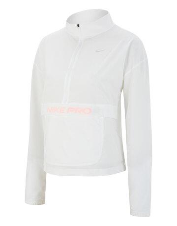 Womens Woven Half Zip Jacket
