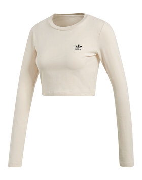 Womens Crop Long Sleeve Top