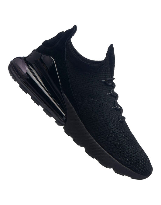 new york efed2 332ee Men's Triple Black Nike Air Max 270 Flyknit | Life Style Sports