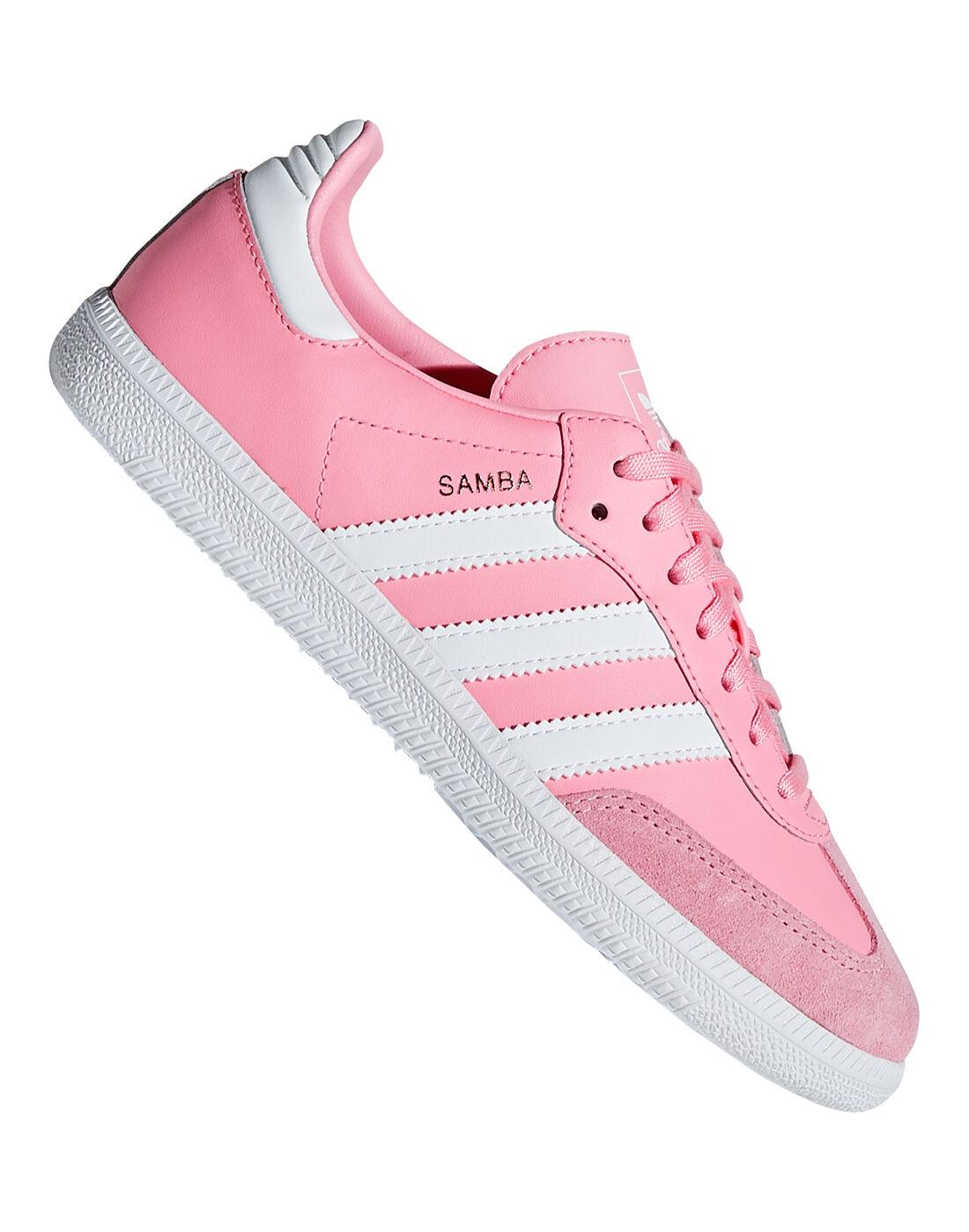 Girl's Pink adidas Originals Samba OG