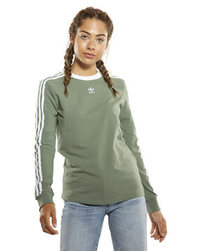 Womens 3 Stripes Long Sleeve T-Shirt