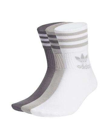 Mid Cut 3 Pack Crew Socks