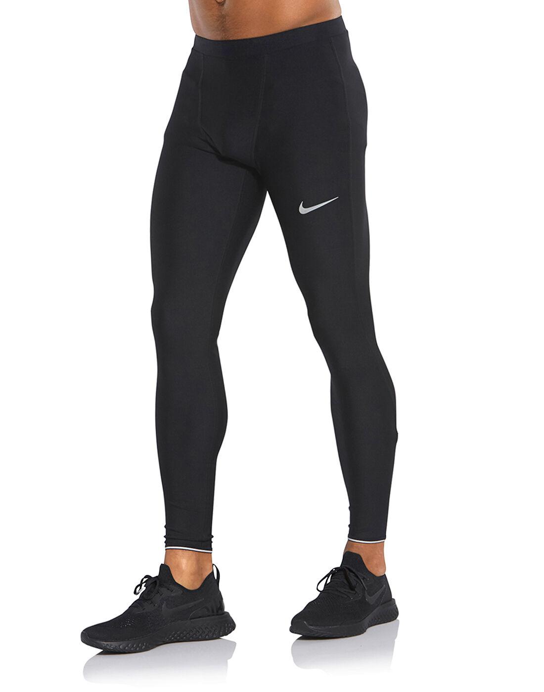 Men's Black Nike Running Tights | Life