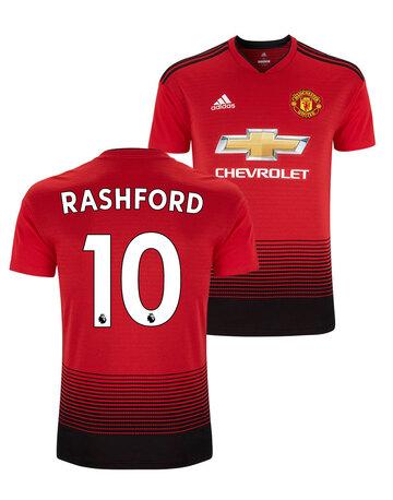 a05a61b9da222 Adult Man Utd Rashford Home Jersey