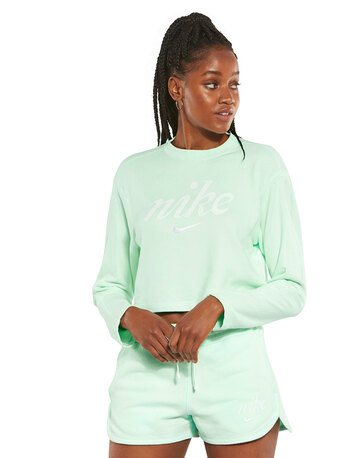 Womens Washed Out Cropped Sweatshirt