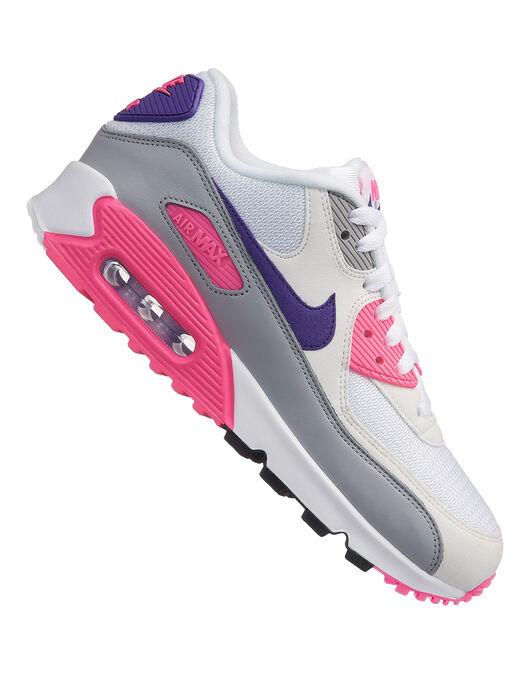 Women s Pink   White Nike Air Max 90  7c1cc07b8