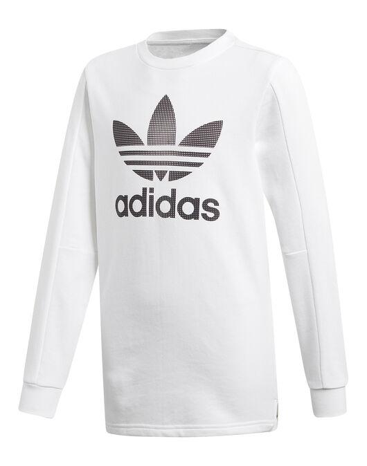 Interpretativo Cantidad de Peculiar  Girl's White adidas Originals Long Sleeve T-Shirt   Life Style Sports