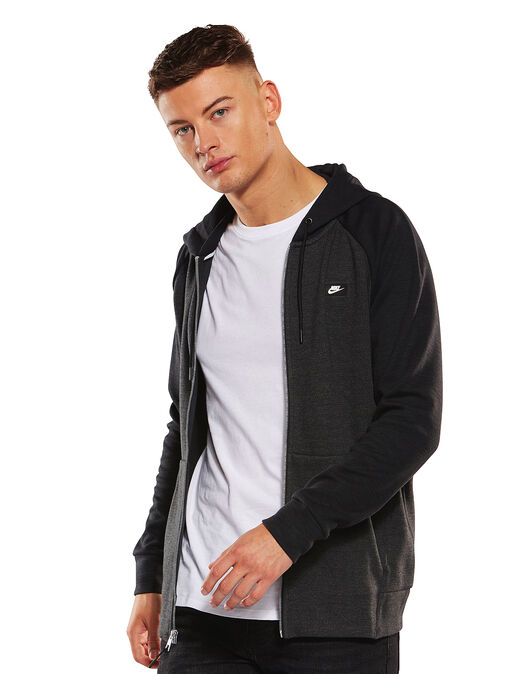 Mens Optic Full Zip Hoodie