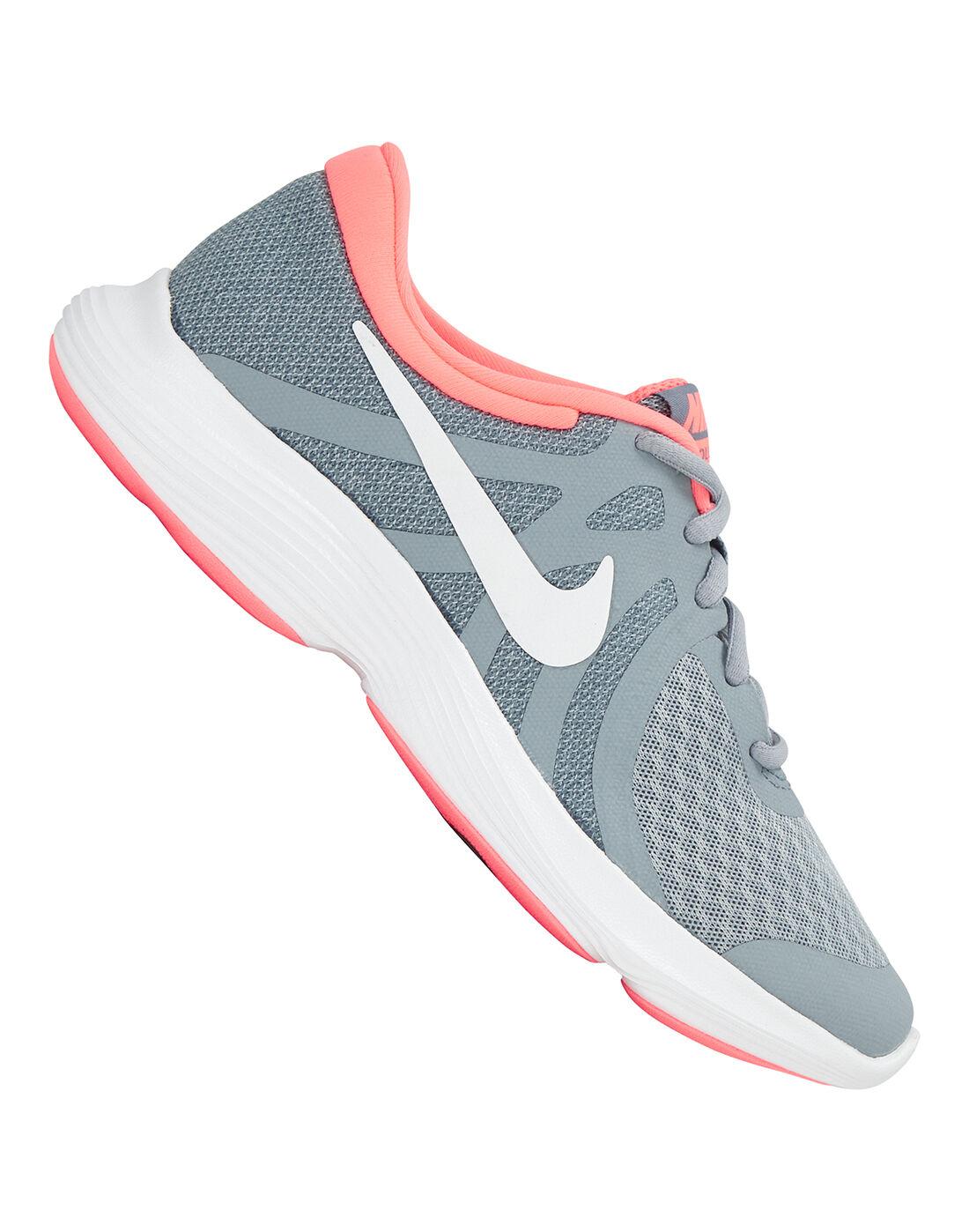 Girl's Grey \u0026 Pink Nike Revolution