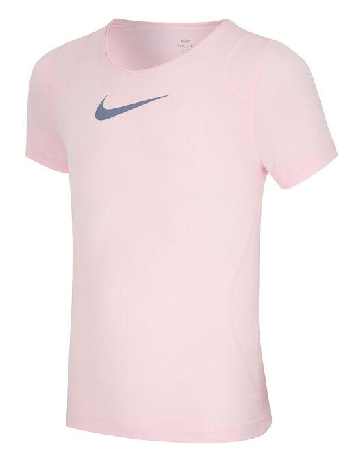 85e710b3a Girl's Pink Nike Pro T-Shirt | Life Style Sports