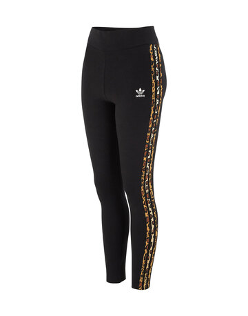 Womens 3 Stripes Leopard Leggings