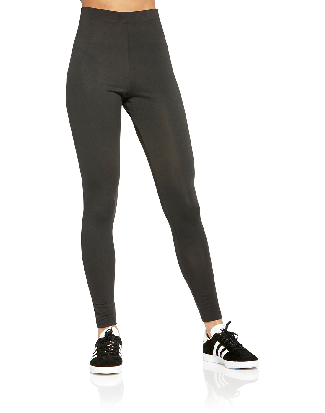 Women's Black adidas Originals Trefoil Tights | Life Style