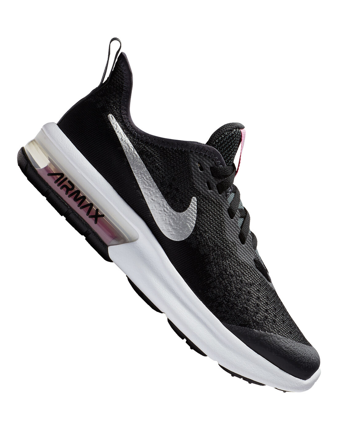 Girl's Black Nike Air Max Sequent