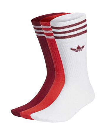 Solid 3 Pack Crew Socks