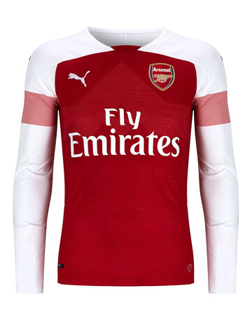 99e3da9dd Adult Arsenal Home 18 19 LS Jersey ...