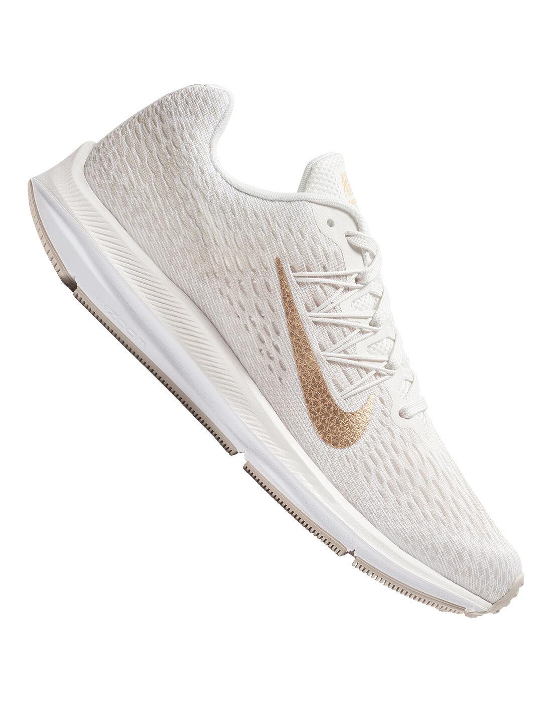 Women's Cream Nike Winflo Running Shoes