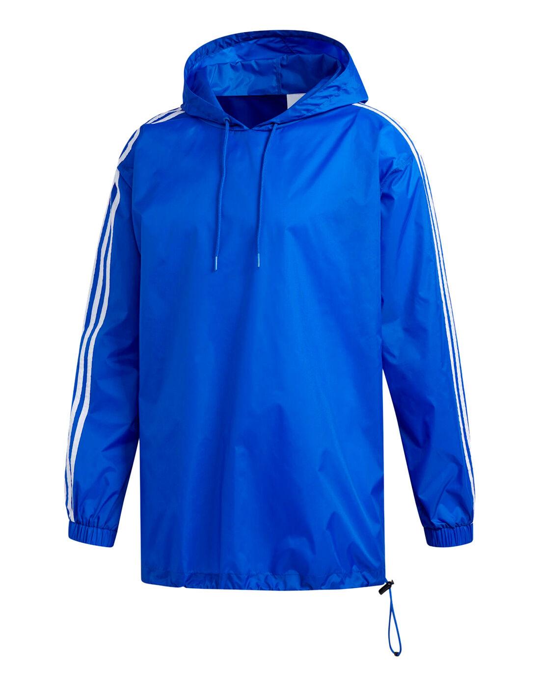 mens blu adidas originali poncho impermeabile di stile di vita, sport