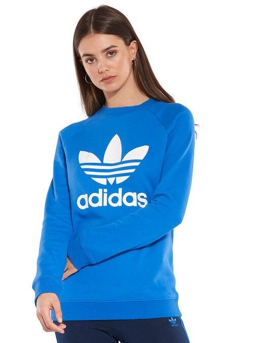 free delivery lowest price new collection adidas Originals Womens Trefoil Crew Sweatshirt