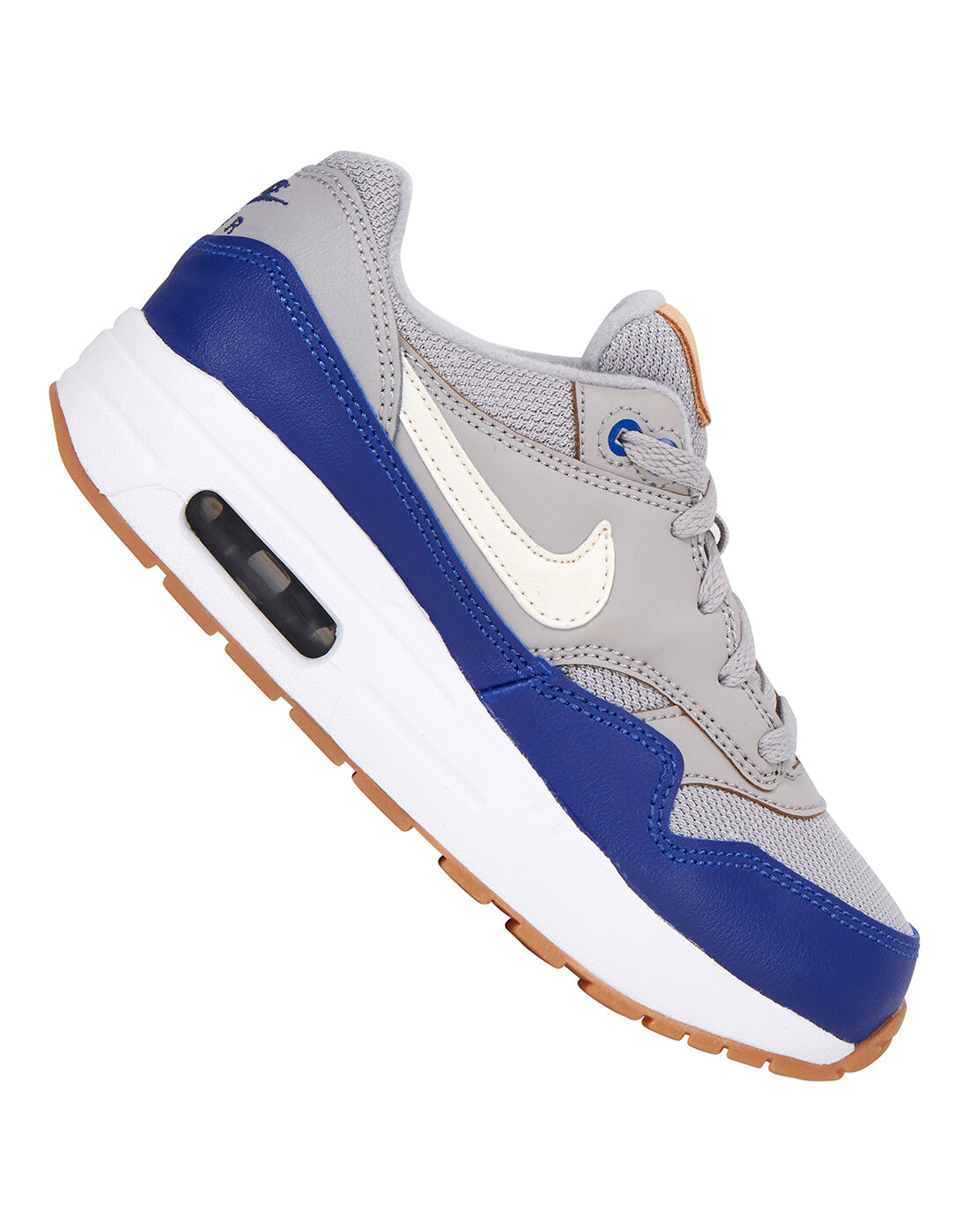 Young Boy's Grey Nike Air Max 1   Life Style Sports