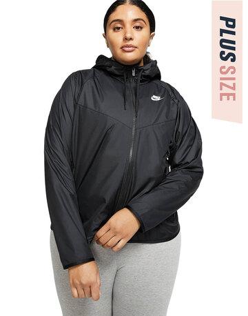Womens Woven Plus Jacket