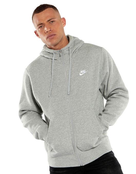 d585960a5 Men's Grey Nike Full Zip Hoodie   Life Style Sports