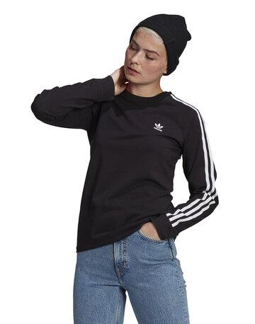 Womens 3-Stripe Long Sleeve T-Shirt