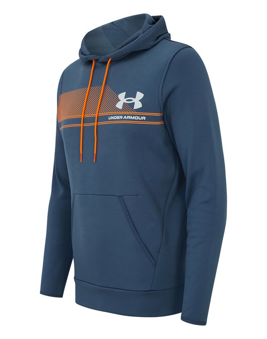 Mens Armour Fleece Graphic Hoodie