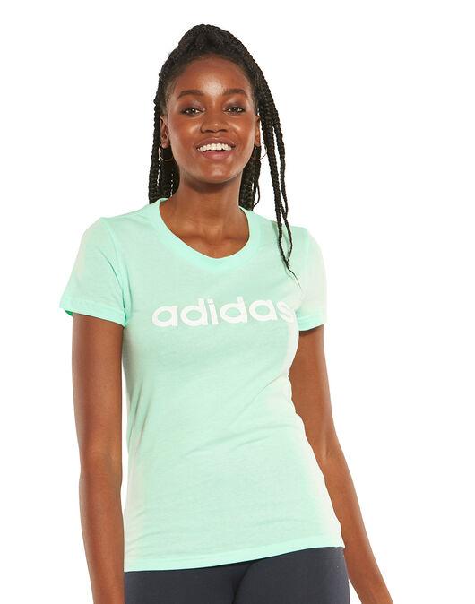 2aea9c56 adidas Womens Linear Slim T-Shirt | Life Style Sports