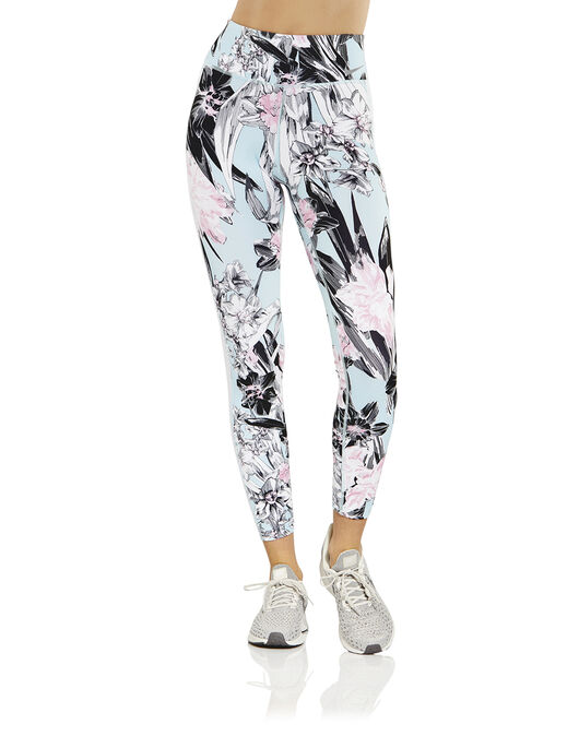 e8f856ec2f651 Women's Blue Floral Nike Gym Tights   Life Style Sports