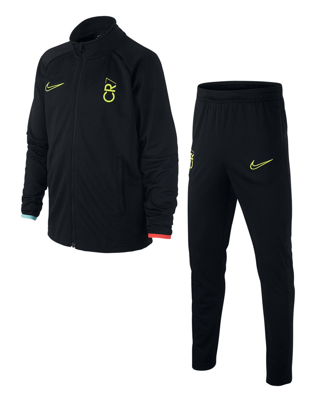 Nike Older Kids CR7 Tracksuit - Black