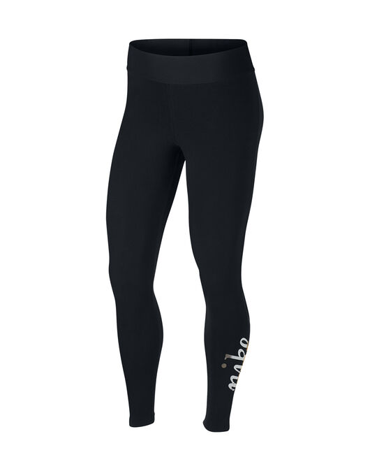 6f5c0ed505f0a Women's Black & Gold Nike Leggings | Life Style Sports