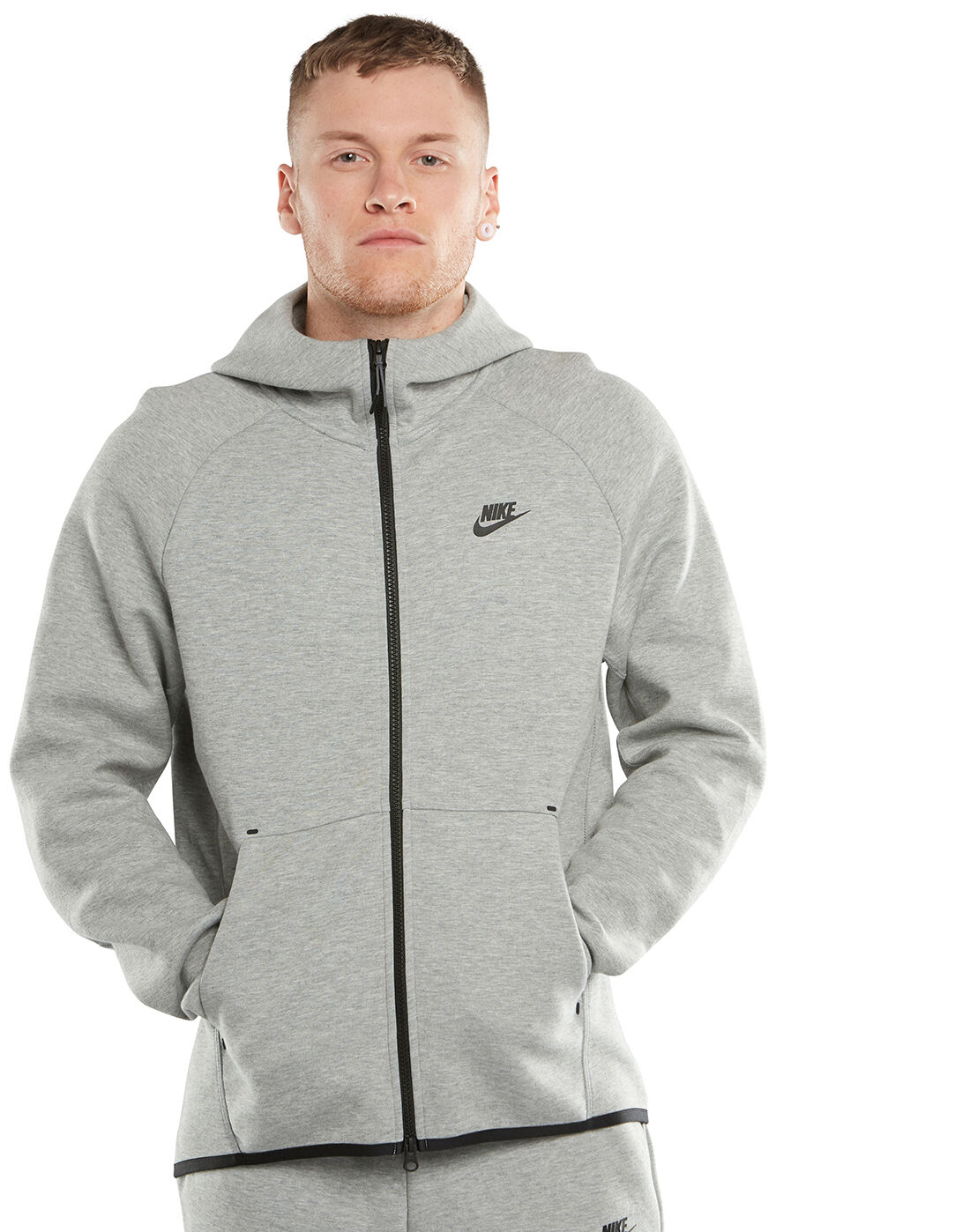 Men's Grey Nike Tech Fleece Hoodie