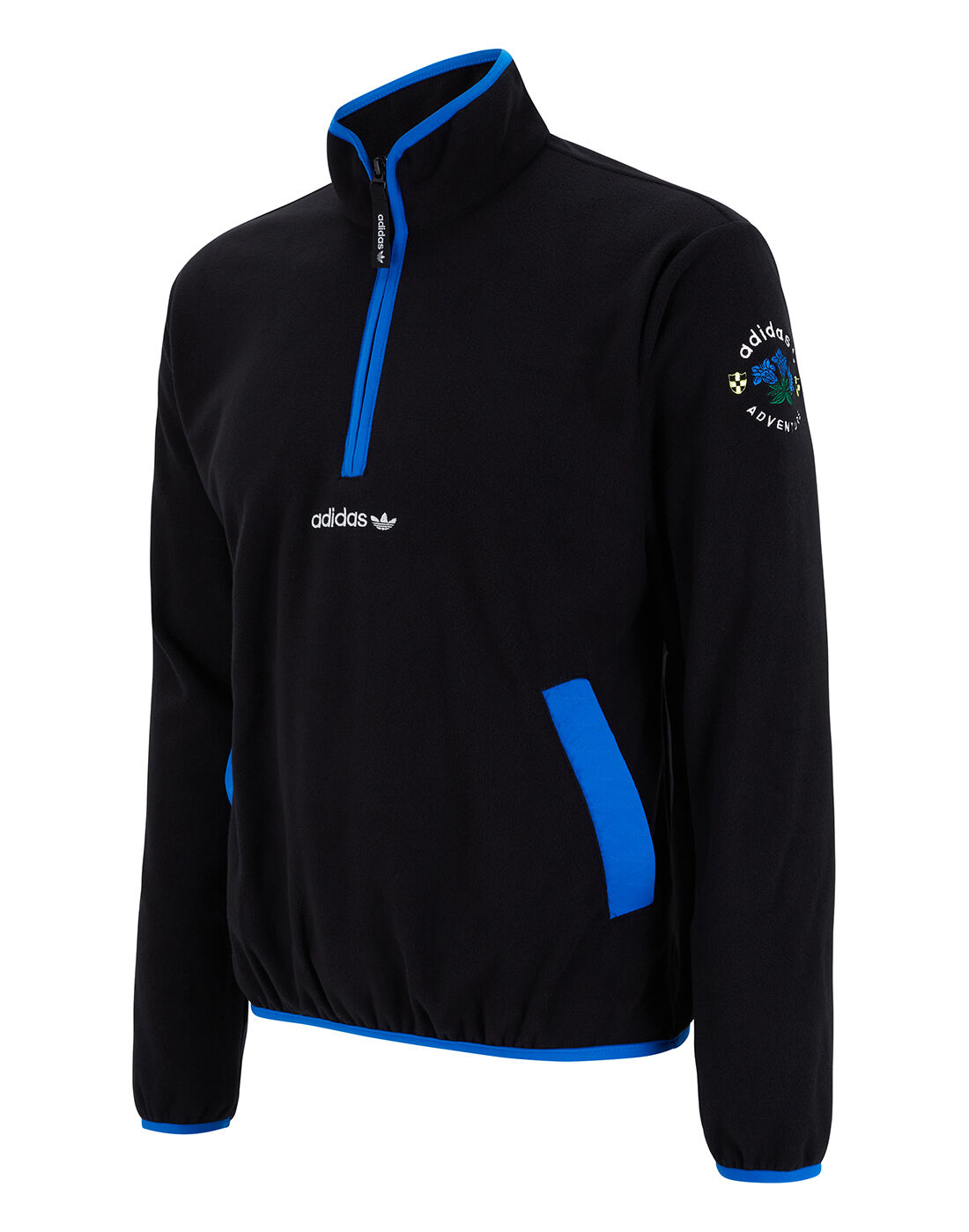 adidas Originals Mens ADV Half Zip Fleece Top - Black | bluza ...
