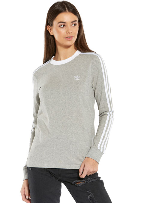 e48432d5e912 adidas Originals. Womens 3-Stripes Long Sleeve T-Shirt